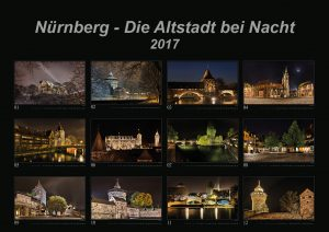 "Picture of the first page of the calendar ""Nuremberg - The oldtown at night 2017"""