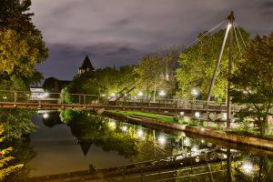 Picture of a bridge over the River Pegnitz