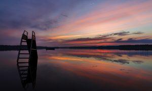 Twilight over lake Turajärvi