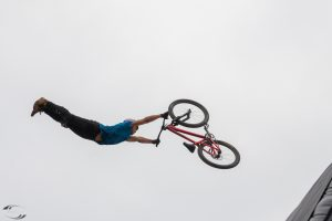 Picture of a rider in the air