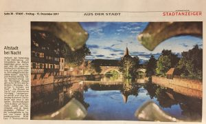 Picture of a newspaper articel about our Nuremberg calendars