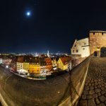 Panorama on the Imperial Castle at night