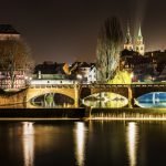 Maxbrücke at night