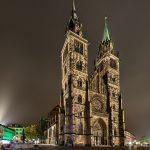 Church St. Lorenz at night