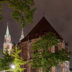 Backside of Lorenzkirche at night