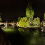 Panorma at the Maxbrücke at night
