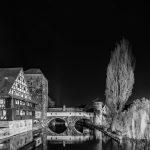 Weinstadl in Nuremberg in black and white