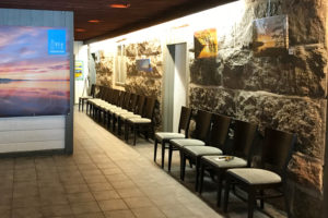 Picture of the exhibition in the Restaurant in Sieravuori